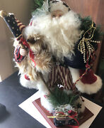Adorable, Home Interiors 18 Fourth Of July Santa Figurine,flag, Hat, Presents