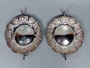 Pair Antique English Renaissance Revival Sterling Silver Strawberry Dishes Sl
