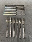 Antique Mermod Jaccard And Co. Silver Plated Set Of 6 Forks And Knives