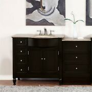 58 Travertine Top Single Bathroom Vanity Sink On The Right Hand Side 902t