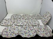 10 J Godinger Royal Cotswolds In The English Tradition Chintz Salad Plate 8