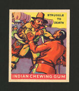 1933 Goudey Indian Gum 177 Struggle To The Death From Original Collection