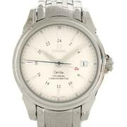 Omega De Ville Watch Menand039s 4533.41 Automatic White System Stainless Steel Used