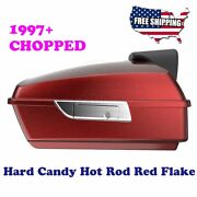 Us Stock Hard Candy Hot Rod Red Flake Chopped Tour Pack For 1997+ Harley