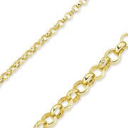 375 9ct Gold Belcher Chain Yellow Solid Round Link Pendant Necklace Gift Box