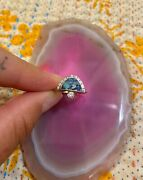 Young In The Mountains Solstice Azurite Diamond Gold Sterling Silver Ring 6 2