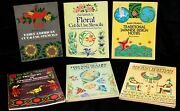 Vtg Lot Of 6 Stencil Craft Books Early American Japanese Ancient Egyptian Floral