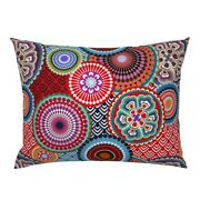 Asian Inspired Bright Mandalas Funky Circle Abstract Pillow Sham By Roostery