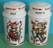 Vintage Authentic Hummel Salt And Pepper Shakers Classic Boy And Girl Collectible