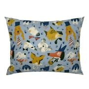 Fancy Dogs Bulldog In Hats Doggy Pet Puppy Funny Animal Pillow Sham By Roostery