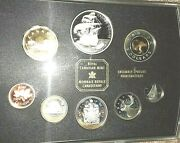 2004 Proof Like Canadian 8 Coin Set W/2 Dollars Inc French Settlement Dollar
