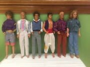 Lot Of 6 Rare 1968 Vintage 12 Inch Male Dolls Figures With Clothes Ships Free 1