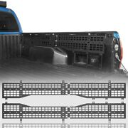 2pcs Side 6' Bed Trunk Molle Panel Mounting Steel Frame Guard For 05-15 Tacoma