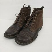 Clarks Whistle Watch Brown Suede Leather Cap Toe Lace Up Ankle Boots Womens Sz 8