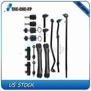 15 Tie Rod End Ball Joint Stabilizer Bar Link Kit Track Bar Control Arm For Jeep