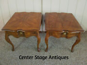 56683 Pair Drexel Heritage Lamp Table Stands
