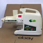 Green Power Twin Gear Juice Extractor Gp E1503 Tested - Missing Parts 7.a6