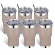 20oz Stainless Steel Tumblers Bulk Tumbler Cup With Lid And Straw 6 Gray