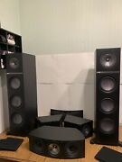 Kef Q700 Towers Iq60c Center Channel Q800ds Speakers Home Theater Surround