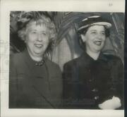 1950 Press Photo Mrs. Truman And Mrs. Barkley, The First Ladies Of The Land.