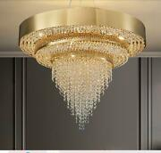 Luxury Top Led Crystal Chandelier Gold French Style Lighting Dining Living Room