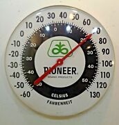 Vtg Jumbo 18 Pioneer Seed Corn Advertising Wall Thermometer Farm Agriculture