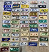Vtg Post Cereal Mini Bicycle License Plate Lot Of 57 Us States