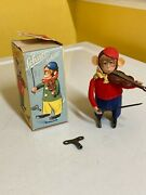 Schuco Solisto Wind-up Violinist Monkey With Original Box And Key. Fully Working