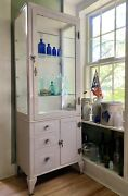Amazing N.s. Low Medical/surgical Cabinet Beautiful Original Conditon New York