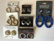 7 Pairs Of Nwt Vintage Trifari Napier And Other Costume Jewelry Pierced Earrings
