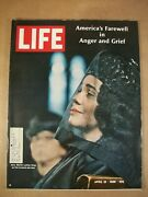 Life Magazine April 19, 1968 Martin Luther King Funeral Service