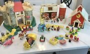 Fisher Price Little People Farm 915 School House 923 Castle 993 Circus Vintage