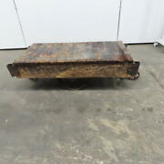 Antique Industrial Factory Warehouse Railroad Coffee Table Cart 25x48x16h