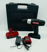 Craftsman 3/8 19.2v Drill Driver And Li/ion Battery W/ Case And Charger