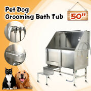 50 304 Stainless Steel Pet Dog Grooming Bath Tub Professional Cat Wash Shower