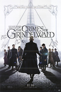 Fantastic Beasts And Where To Find Them Cast Signed Poster Amco 10749