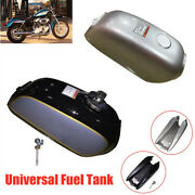 Universal Refit Motorcycle Cafe Racer Stainless Steel Fuel Gas Tank And Cap Switch