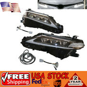 For Toyota Camry 2018-21 Led Headlight Assembly Led Drl Turn Signal Clear Lens