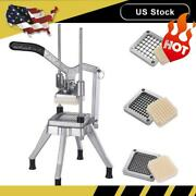 3 Blades Stainless Steel French Fry Cutter Potato Vegetable Slicer Chopper Usa
