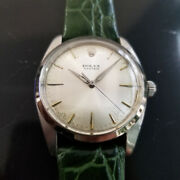 Mens Rolex Oyster 6424 36mm Hand-wind Dress Watch C.1960s Vintage Ma171grn