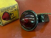 Vintage 1930 And039s 1940 And039s Do-ray Glass Red Bullet Clearance Marker Light And Bracket