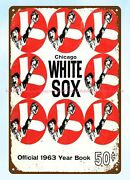 1963 Baseball Chicago White Sox Year Book Cover Metal Tin Sign Collectible Signs