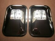 Vintage 10x7 Chrome Plated Mirrors W/convex Pickup Trucks Circa 60and039s -80and039s