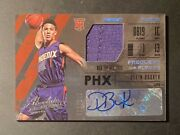 2015-16 Panini Absolute Devin Booker Frequent Flyers Rc Jersey Auto 009/149