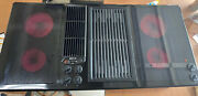 Jenn Air 45andrdquo Downdraft Cooktop Designer Line 3 Bay Electric Glass With Grill