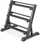 Marcy 3-tier Dumbbell Rack Multilevel Weight Storage Organizer For 33 Inch