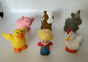 Fisher Price Little People Farm Replacement Farmer Animals Cow Chicken Pig Duck