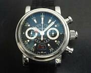 Graham Grand Silverstone 2gsias Chronograph Gmt Black Dial Menand039s Watch