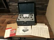 Vintage Allied Radio Knight Kit Tube Tester 83yx142-83yx143 Tested And Works