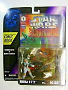 Star Wars Shadows Of The Empire Boba Fett Vs. Ig-88 Figures And Comic 69568